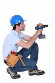 Man using screwdriver — Stock Photo