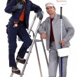 Painter and electrician — Stock Photo #14898585