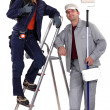 Painter and electrician — Stock Photo
