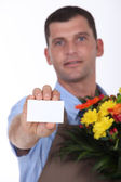 Delivery flourist — Stock Photo