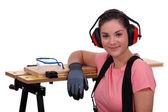 Young female apprentice — Stock Photo