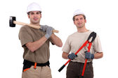 Two handymen. — Stock Photo