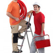 Stock Photo: Portrait of team of tradesmen