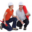 A couple of plumbers. — Stock Photo #14916923