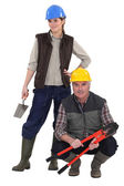 Construction team — Stock Photo
