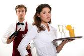 Restaurant-arbeiter — Stockfoto