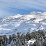 Snowy mountain scenes — Stock Photo