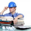 Overworked engineer - Stock Photo