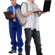 Apprentice and master — Stock Photo