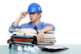 Overworked engineer — Stock Photo