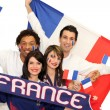 French soccer fans — Stock Photo
