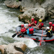 Thrill seekers rafting down rapids — Stock Photo #14951557