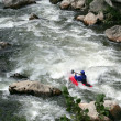 Mkayaking down rapids — Stock Photo #14951577