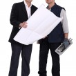 Architect and tiler — Stock Photo