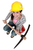 I got a pickaxe — Stock Photo