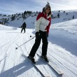 Stock Photo: Female skier