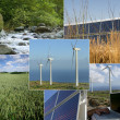 Images of sustainable energy and the environment — Foto de Stock