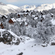 Snow covered village — Stock Photo