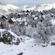Stock Photo: Snow covered village