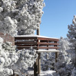 Snow on a chalet — Stock Photo