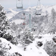Foto Stock: Ski resort chair lift