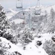 Stock Photo: Ski resort chair lift