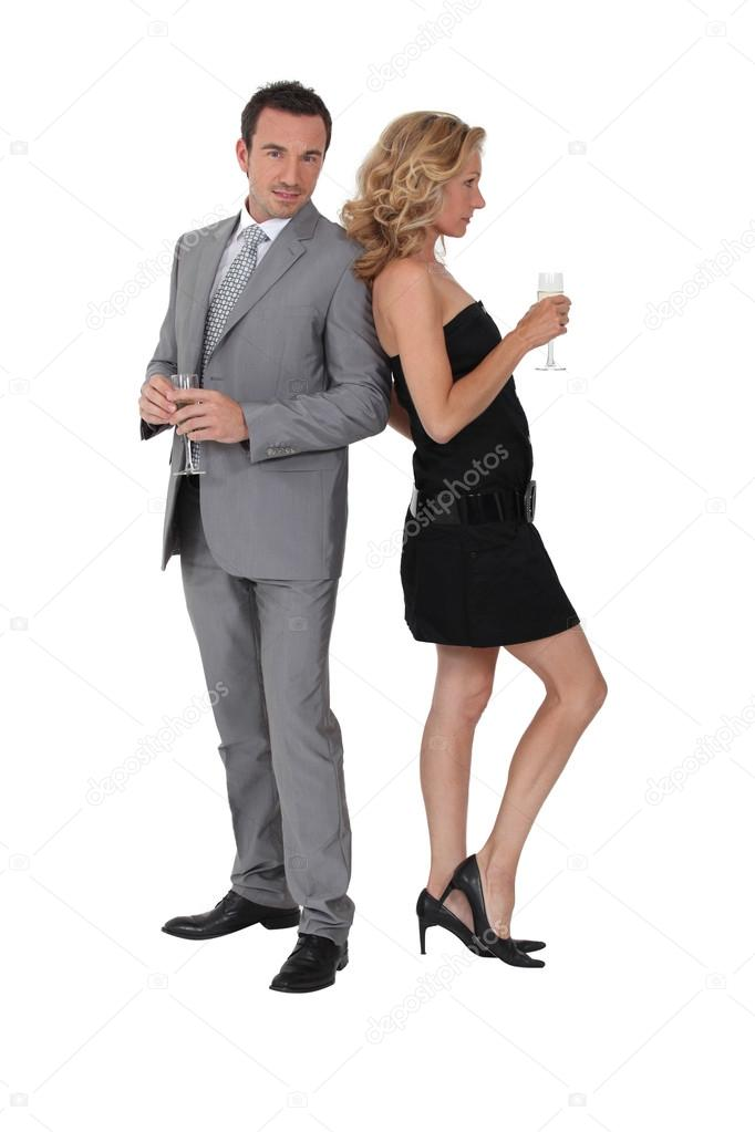 Business couple have had a successful year  Stock Photo #15603473