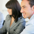 Close-up of colleagues in a business meeting — Stock Photo