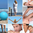 Relaxation mosaic — Stock Photo