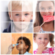 Foto Stock: Childhood themed collage
