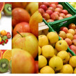 Royalty-Free Stock Photo: Collage of different fruits