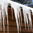 Stalactite hanging from chalet — Stock Photo #15745747