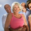 Two happy senior couples — Stock Photo #15749505