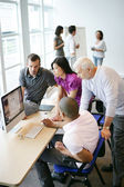 Businesspeople working in the office — Stock Photo