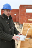 Businessman on a construction site — Стоковое фото