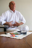 Older man with stomach ache — Stock Photo