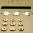 Stock Photo: Modern intercom system