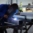 Worker welding — Stock Photo