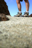 Close-up of hikers feet — Stock Photo