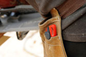 Close-up of workers tool-belt — Stock Photo