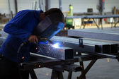 Worker welding — Fotografia Stock