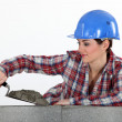 Stock Photo: Female Mason