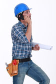 Construction foreman at work — Stock Photo