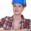 Female construction worker — Foto de Stock