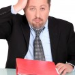 Stressed businessman — Stock Photo #15959529