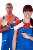 Pair of decorators — Stock Photo