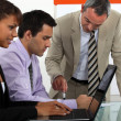 Office workers working together — Stock Photo #15988363