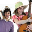 Stock Photo: Two with acoustic instruments