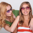 Stock Photo: Two young blonde women