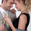 Royalty-Free Stock Photo: Couple drinking champagne